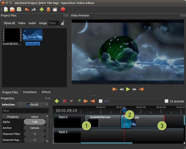 OpenShot Green Screen Software