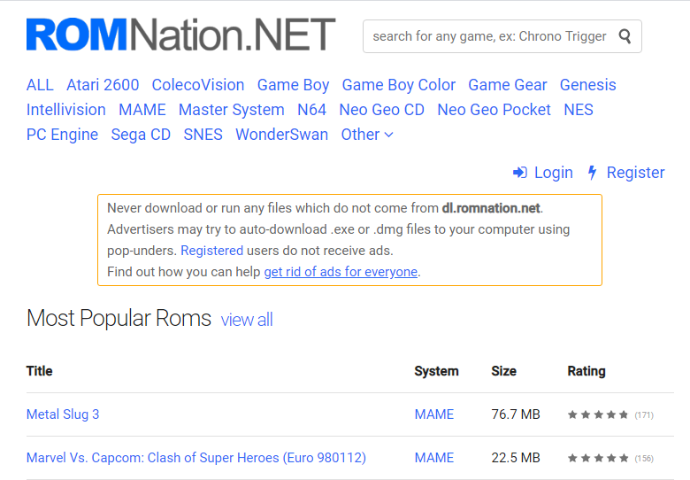 Romnation - Sites to Download Nintendo 3DS ROMs
