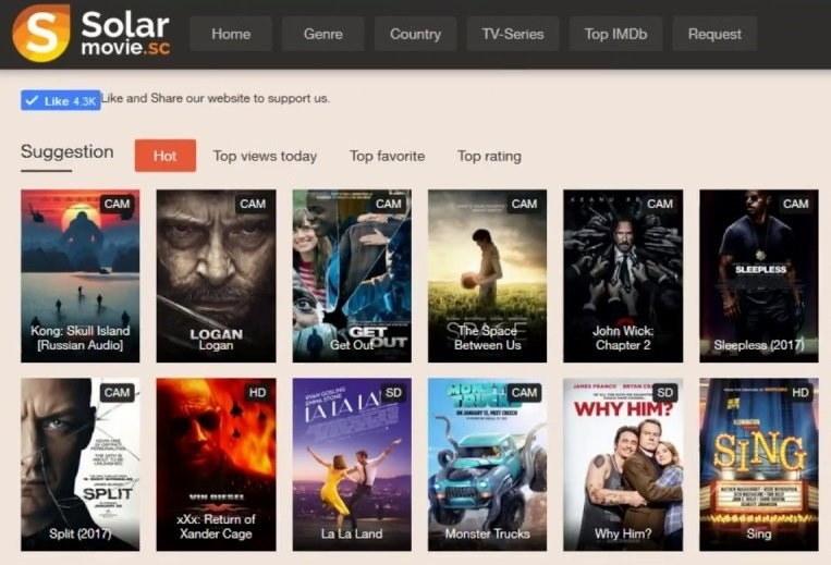 Solarmovie to Watch Free Movies and TV Shows